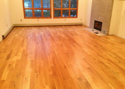 New unfinished 4 inch White Oak, #1 common installed